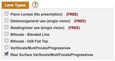 Selecting Rear Surface Lenses