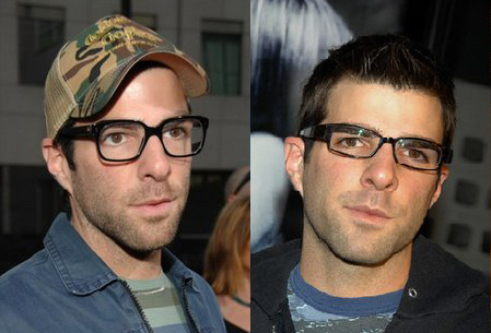 Zachary Quinto - Star of Heroes and the new Star Trek Movie in glasses (Selectspecs.com)