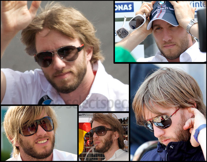 Nick Heidfeld wearing various sunglasses