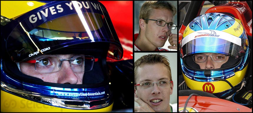 Sebastien Bourdais wears glasses even when racing