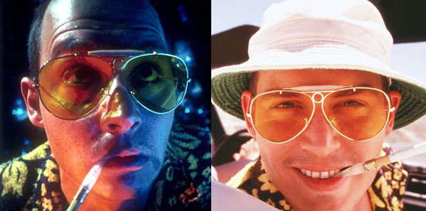 Johnny Depp Sunglasses - Fear and Loathing