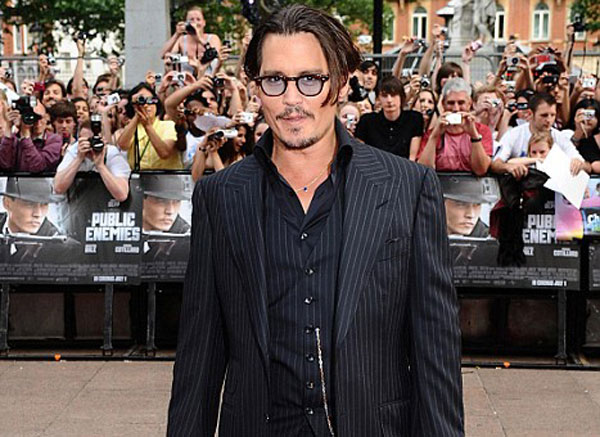 Johnny Depp - Public Enemies Premiere