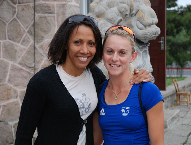 Dame Kelly Holmes and Jenny Meadows