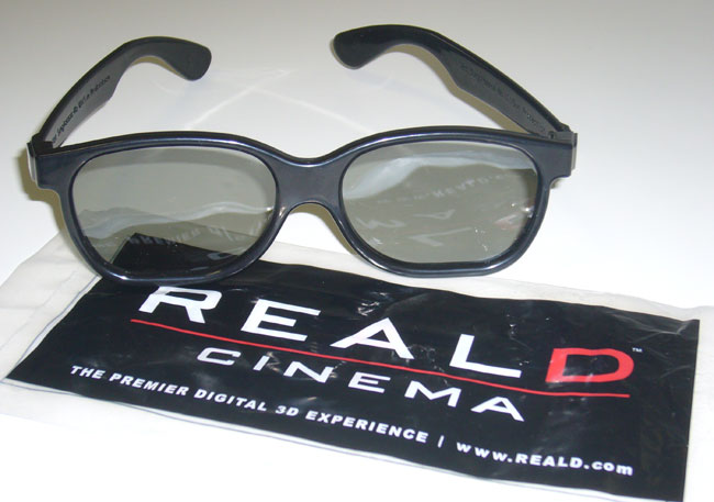 reald 3-d glasses