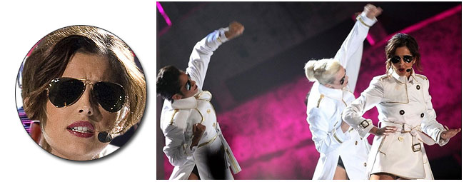3b3142608d99 Cheryl Cole wears Ray-Ban Aviator Sunglasses @ The Brits 2010 ...