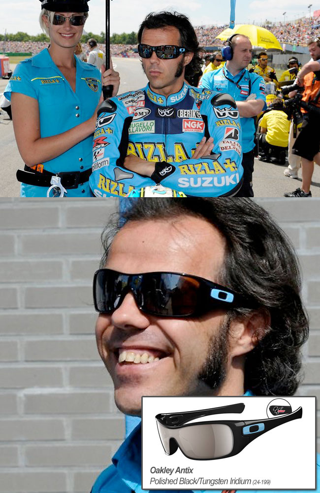 loris capirossi wears oakley antix