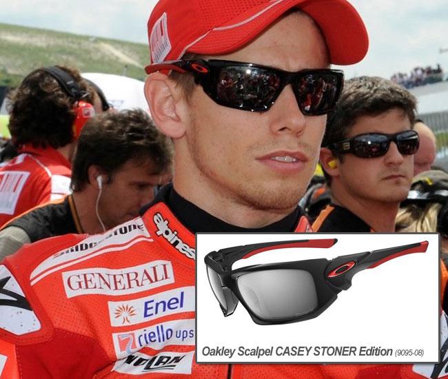 casey stoner wears oakley scalpel CASEY STONER edition