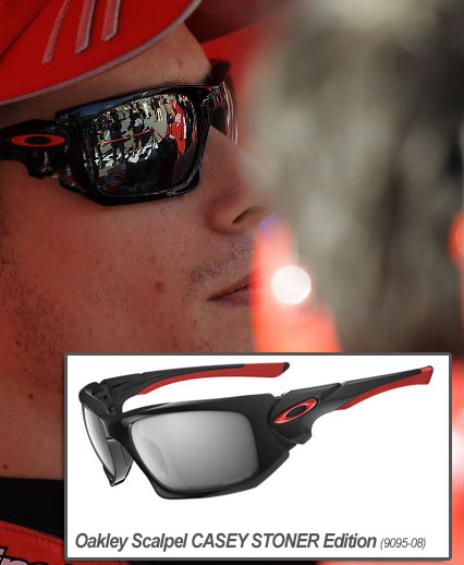 cheap holbrook oakley sunglasses 70ar  casey stoner wears oakley scalpel casey stoner edition