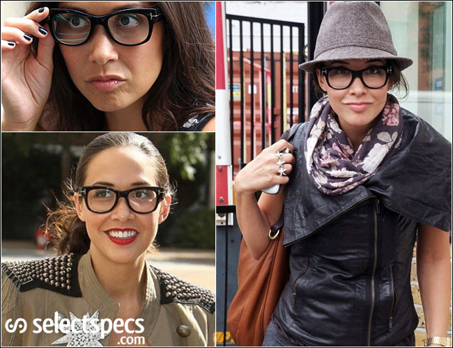 Myleene Klass in Tom Ford FT5040 Glasses – Out & About