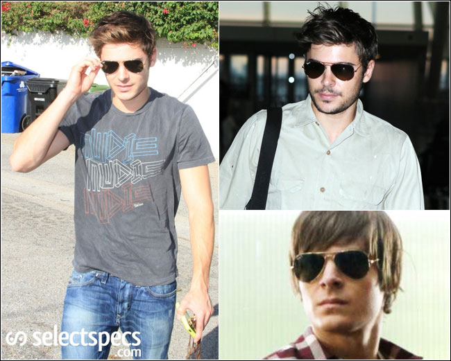 869eeaf252 Zac Efron in his Ray-Ban