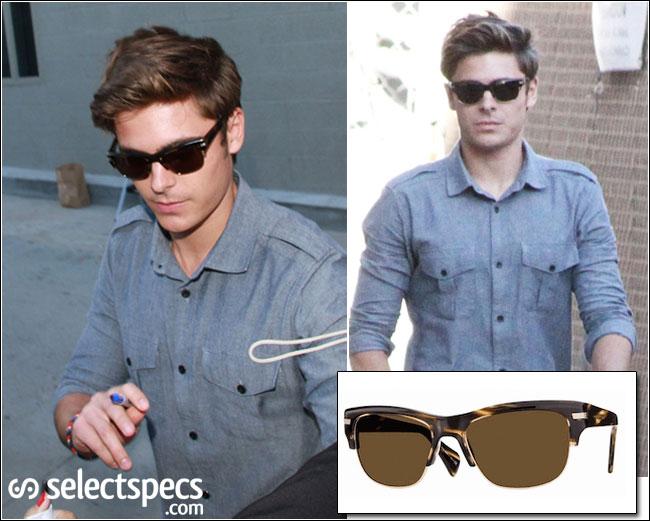 c209ad97448a6 Zac Efron in Ray-Ban Wayfarer Sunglasses
