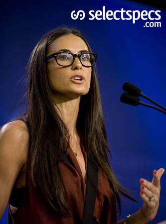 Demi Moore - Squre Face - Round Glasses