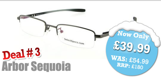 SelectSpecs Deal of the Day - Arbor Sequoia Semi-Rimless Prescription Glasses