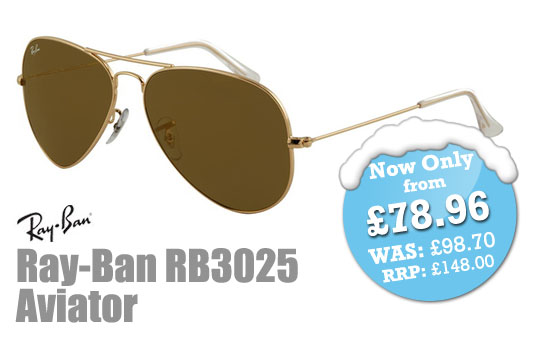 SelectSpecs Deal of the Day - Ray-Ban RB3025 Aviator Sunglasses