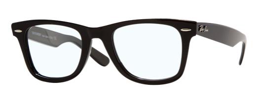 Classic Black Rimmed Wayfarers (by Ray-Ban)