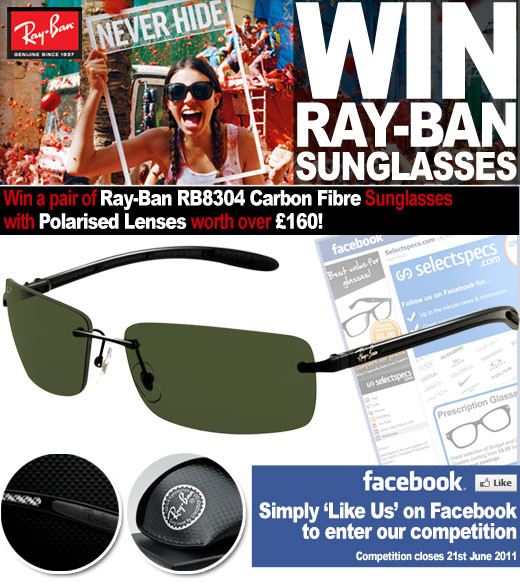ee831b87f8e WIN Ray-Ban Carbon Fibre Sunglasses – SelectSpecs Glasses Blog