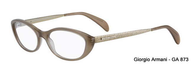 Giorgio Armani GA 873 Cat Eye Style Prescription Glasses from SelectSpecs.com