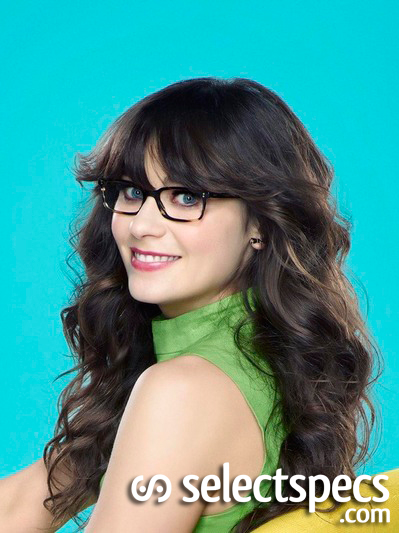 Lovely Zooey Deschanel is Adorkable in glasses in New Girl