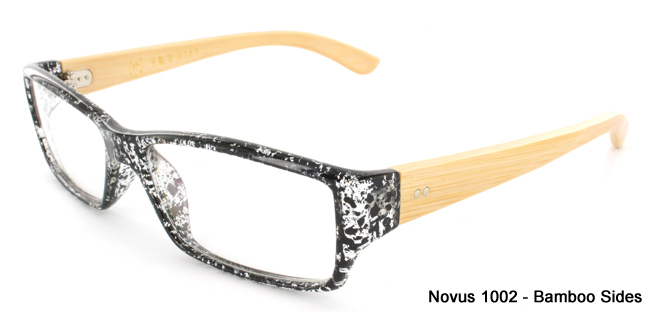 Novus 1002 prescription glasses with bamboo arms from SelectSpecs
