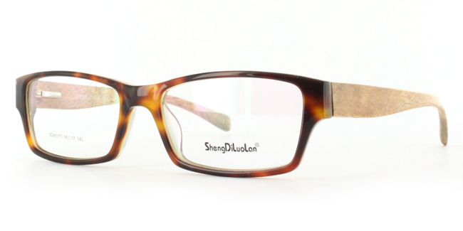 Novus SDM3111 Tortoiseshell Glasses with Bamboo sides from SelectSpecs