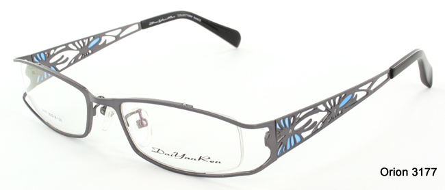 Turn Heads with these Orion 3177 metal semi-rimless glasses from SelectSpecs.com