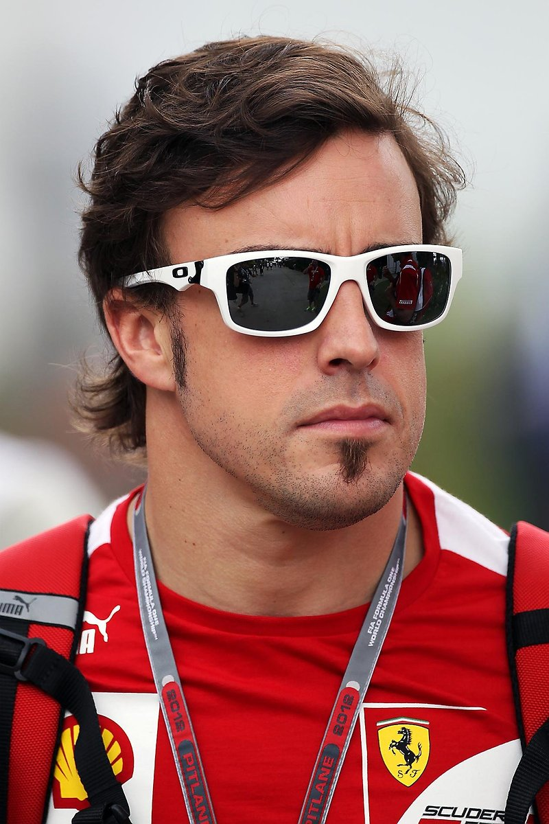 Alonso in Oakley Sunglasses at Malaysian GP 2012 - SelectSpecs