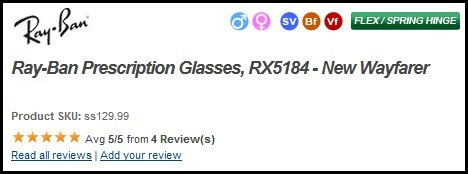 Ray-Ban RB5184 Prescription Glasses - Add Review