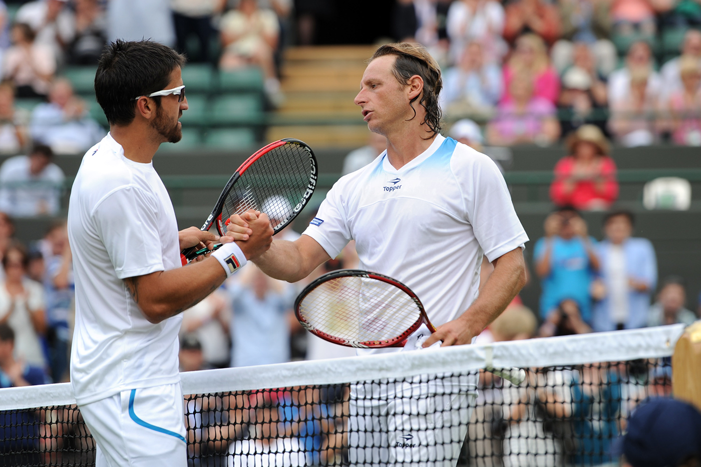 Janko Tipsarevic - Wearing Oakley Fast Jacket at Wimbledon - 2012