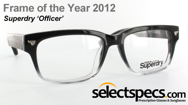Frame of the Year 2012 - Superdry 'Officer' from SelectSpecs.com