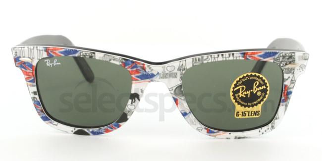 Ray-Ban RB2140-1115 London Print Edition (Front) from SelectSpecs.com