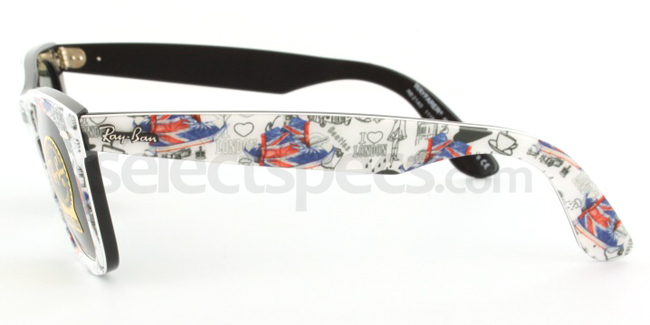 Ray-Ban RB2140-1115 London Print Edition (Side 1) from SelectSpecs.com