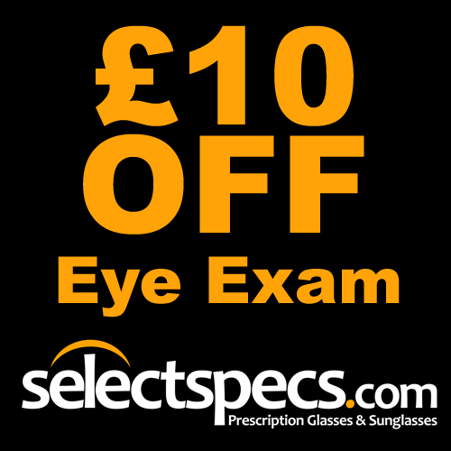 Get £10 OFF your first Eye Exam at SelectSpecs.com