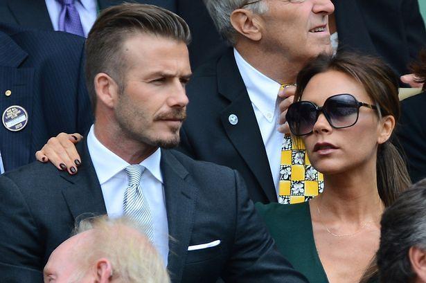David and Victoria Beckham at Wimbledon Men's Final