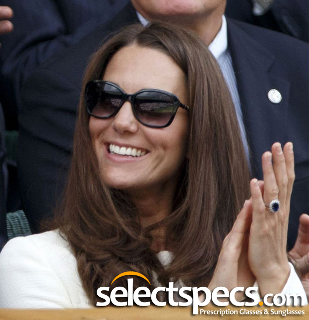Kate Middleton at Wimbledon Wearing Givenchy Sunglasses