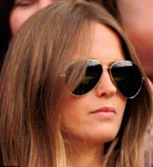 Kim Sears wears Victoria Beckhams Aviator Sunglasses