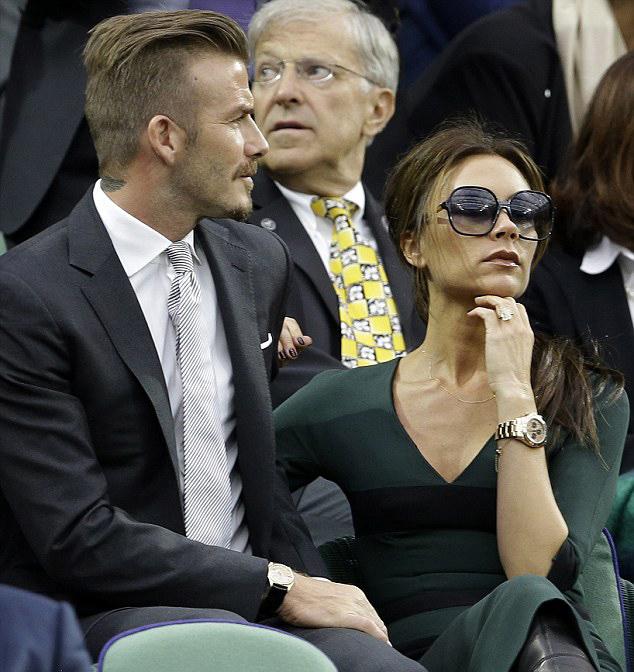 Victoria Beckham BORED - at Wimbledon Men's Final 2012