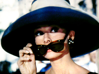 Audrey Hepburn in Breakfast at Tiffany's with Sunglasses