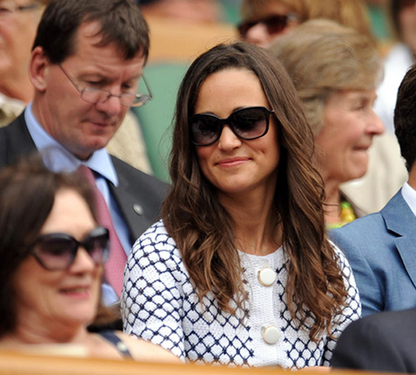 Pippa Middleton at Wimbledon (day 4) Wearing Givenchy Sunglasses