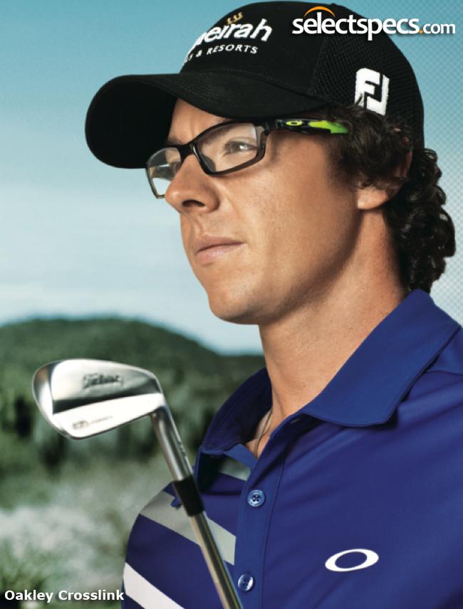 Rory McIlroy wearing Oakley Crosslink Glasses from SelectSpecs
