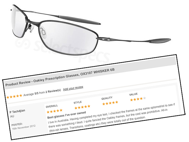 Oakley Whisker 6B Review on SelectSpecs