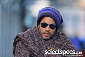 Lenny Kravitz wearing Aviator Sunglasses