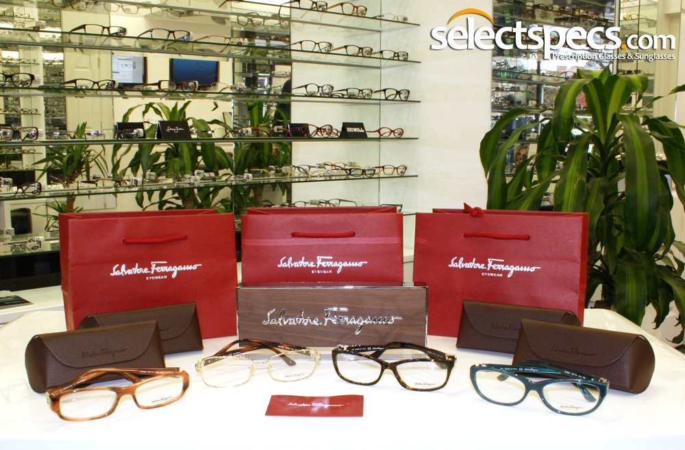 Salvatore Ferragamo on display in our optical store - SelectSpecs.com