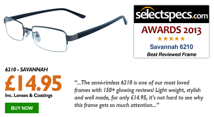 SelectSpecs.com Best Reviewed Frame of the Year 2013 - Savannah - 6210