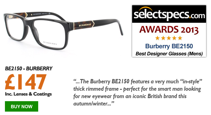 SelectSpecs.com Glasses of the Year Award 2013 - Mens - Burberry - BE2150