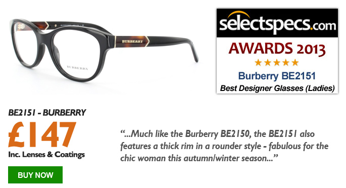 SelectSpecs.com Glasses of the Year 2013 - Ladies - Burberry BE2151