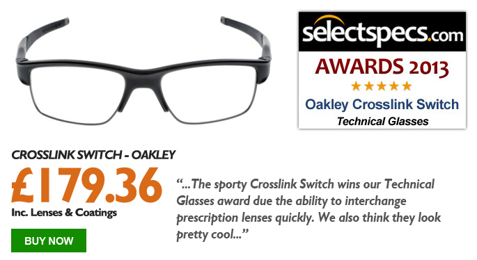 SelectSpecs.com Technical Glasses of the Year - Oakley Crosslink Switch