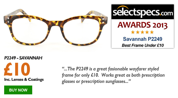Budget Glasses of the Year - Under £10 - Savannah - P2249