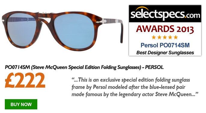 SelectSpecs.com Sunglasses of the Year Award 2013 - Persol - PO0714SM Steve McQueen Edition