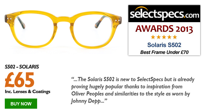SelectSpecs.com Frames of the Year 2013 - Under £70 - Solaris - S502