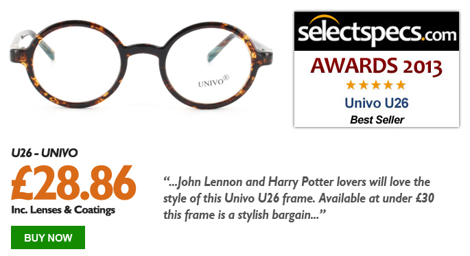 SelectSpecs.com Best Selling Glasses of the Year Award - Univo -U26